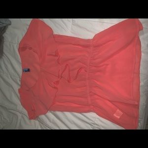 buttons Tops - Coral blouse